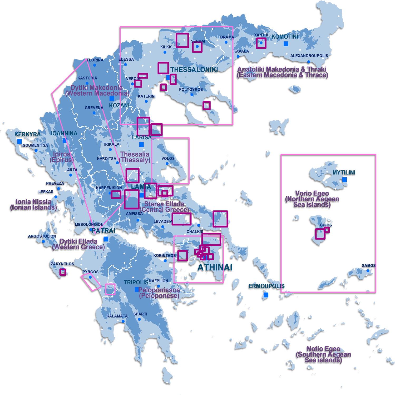 Γεωγραφική κατανομή των projects 2000 - 2020